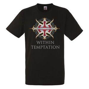 WITHIN TEMPTATION HYDRA HEAD BLACK T-SHIRT SYMPHONIC METAL BAND NIGHTWISH