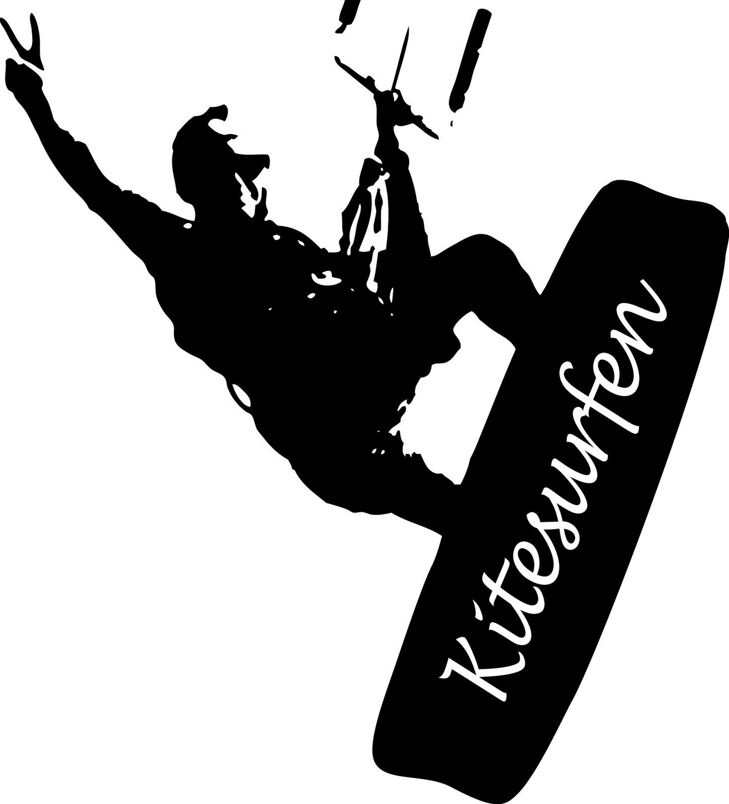Kitesurfer kitesurfen deportes acuáticos pegatinas murales sticker auto espejo