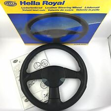 Hella Sport Royal Momo 360mm leather steering wheel. Genuine NOS rare ***LOOK***