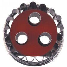 Ausstechform /  Linzer-Ausstecher mit Auswerfer-Linzer 3-Loch-zerlegbar, klein