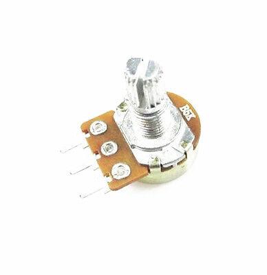 5 PCS 5K Ohm B5K Knurled Shaft Linear Rotary Taper Potentiometer NEW