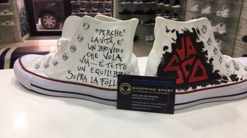 Converse All Pittura Rossi Disegnate Personalizzate 3 Con Star Vasco rFwqrgO