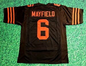 best authentic 8010d 4f646 Details about BAKER MAYFIELD CUSTOM CLEVELAND BROWNS JERSEY