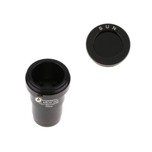For Celestron Telescope Barlow Lens 5X /& Eyepiece Accessory Filter Black