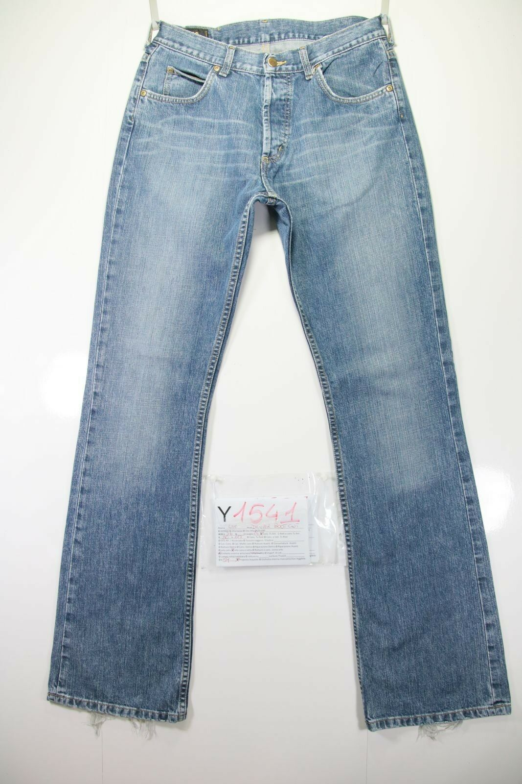 Lee Denver Bootcut ( Cod. Y1541) Tg.47 W33 L36 High Waisted Jeans Used Flare