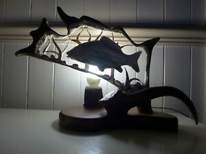 Fallow-Deer-Antler-Lamp-Carp-Fish-Design-Home-Decor-Art-Handmade-Unique-Gift