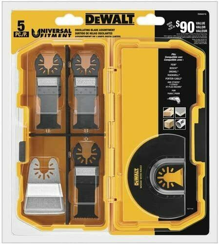 Oscillating Tool Blades Kit No Adapter Required 5-Piece