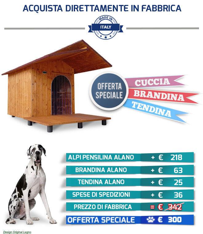 Cuccia Alano Pensilina Tendina Brandina Alano  nda in legno davanzale esterno