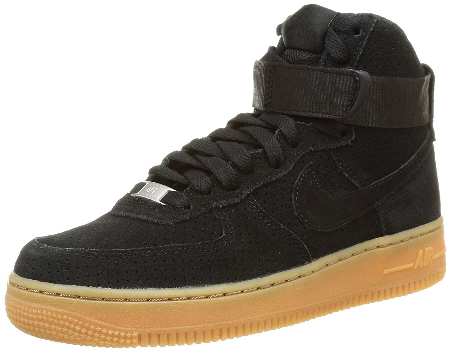 Nike WMNS Air Force 1 Mid '07 Basketball shoes, Size 7 (749266-001) BLACK BLACK