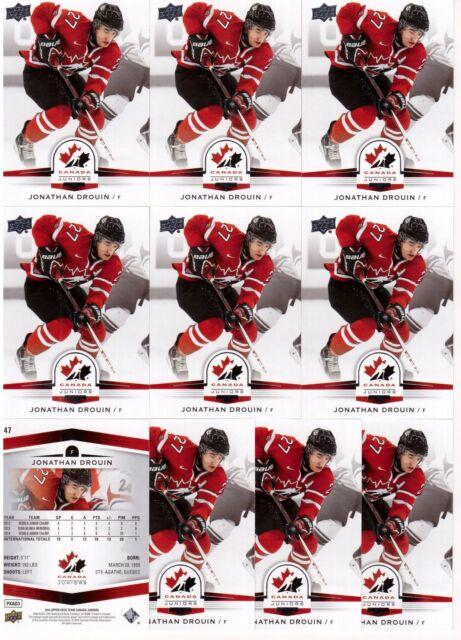 JONATHAN DROUIN 14/15 Upper Deck Team Canada Juniors #47 Lot of (10) Rookie Card