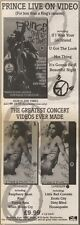 23/6/90Pgn18 Advert: Get Prince sign Of The Times Live On Video Now 15x5
