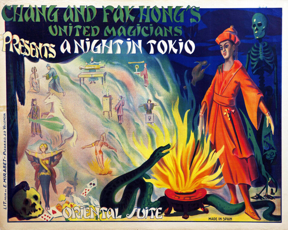 Decoration POSTER print.Magician Tokio Show.Japan.Room home interior wall.6690