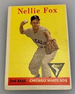 1958-Topps-400-Nellie-Fox-Baseball-Card-Chicago-White-Sox-HOF