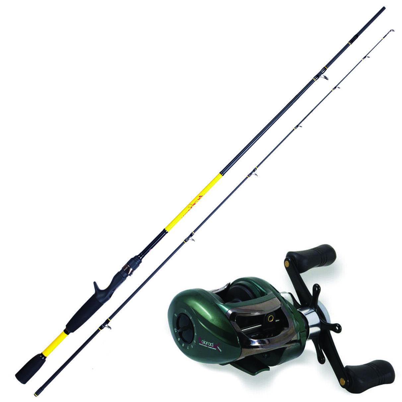 KP3804 Kit Casting Canna Pesca Herakles Youth 1,85 m  Mulinello Coloreeado  CAS