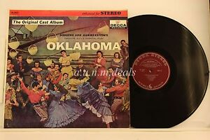 OKLAHOMA-Original-Broadway-Cast-Album-Decca-Records-LP-12-034-VG