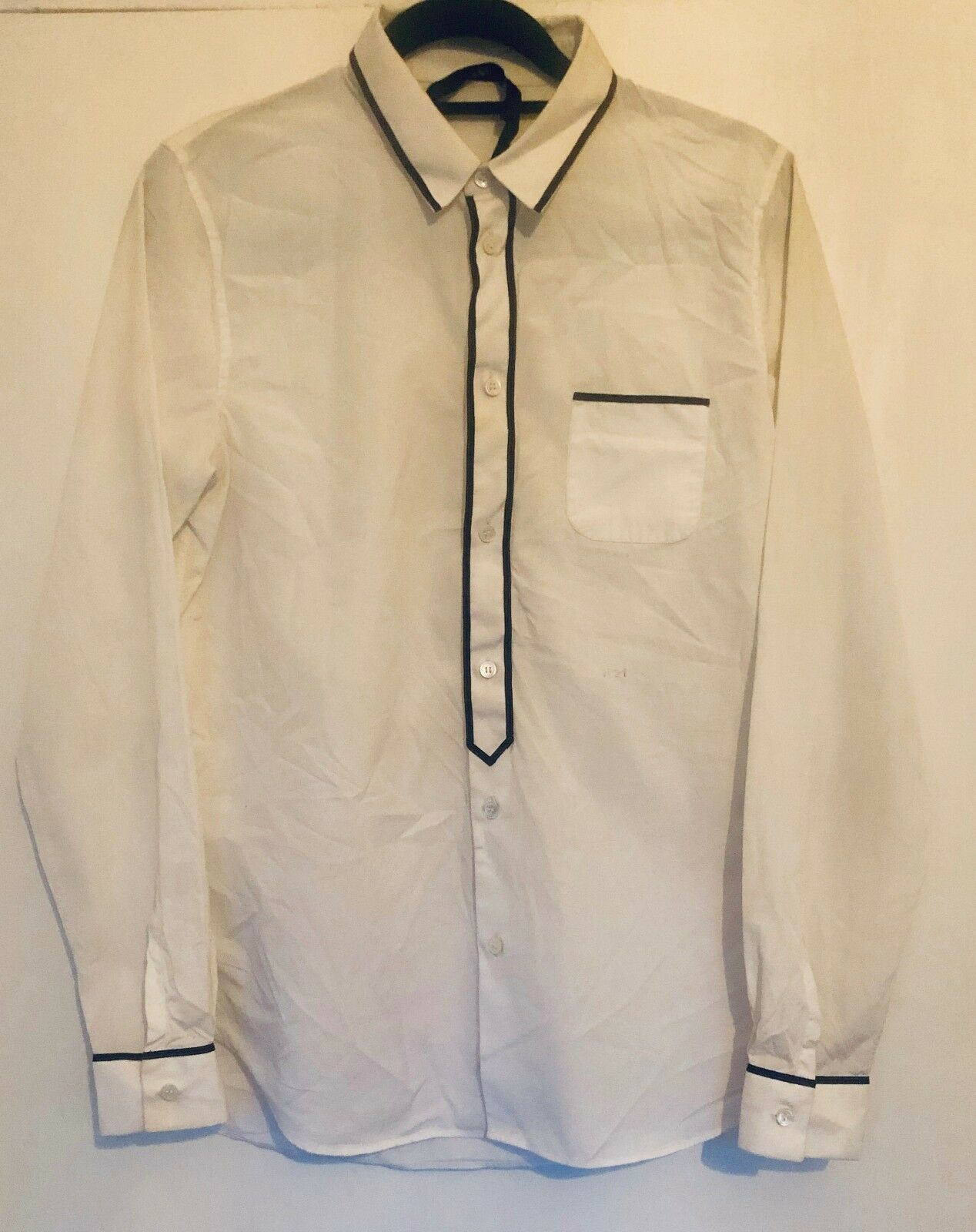 N°21 (Numero Ventuno) White Mens Button Down Shirt SZ  48