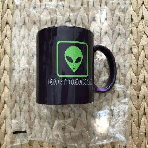 George Noory Coast To Coast Alien coffee mug Purple