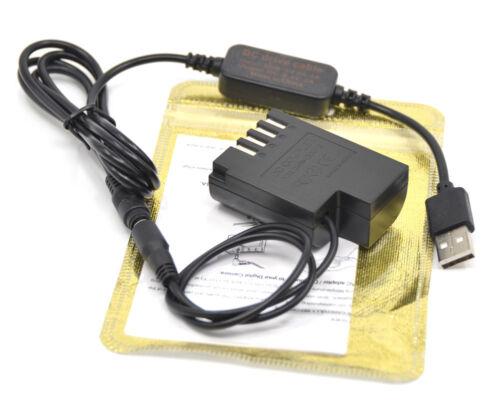 Acoplador DMW-BLF19 DCC12 DC cable USB Banco de alimentación de ajuste para Panasonic GH5 GH4 G9
