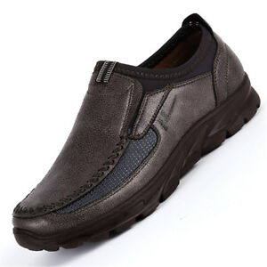 Men-039-s-Leather-Casual-Slip-On-Loafers-Antiskid-Summer-Driving-Moccasins-Shoes