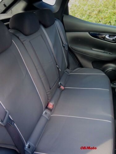 Black Eco-Leather Tailored Full Set Seat Covers Honda CRV Mk4 IV 2012-2016