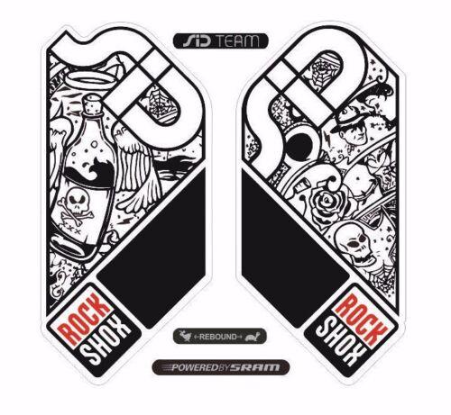 Rock Shox SID Mountain Bike Cycling Decal Kit Sticker Adhesive Pirates Theme