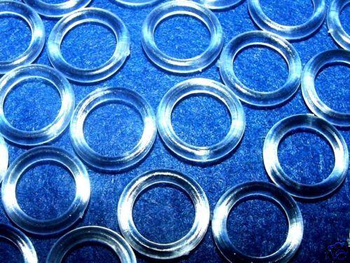 100 X Transparentes Plastik 13mm Raffvorhang Vorhang Ringe