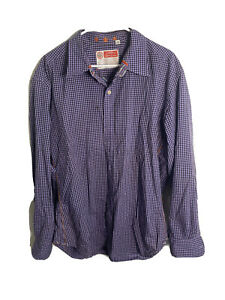 Robert-Graham-Mens-XL-Long-Sleeve-Button-Flip-Cuff-Shirt-Purple-Striped