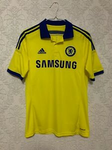 Chelsea FC 2014 2015 Away Yellow Football Jersey Shirt Adidas Size ...