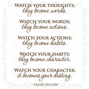 Frank Outlaw Watch Your Thoughts Character Wall Decal