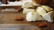GJ's Finest Raw , Food Grade Ecuadorian Cocoa Butter (Chocolate Aroma)100g Jar