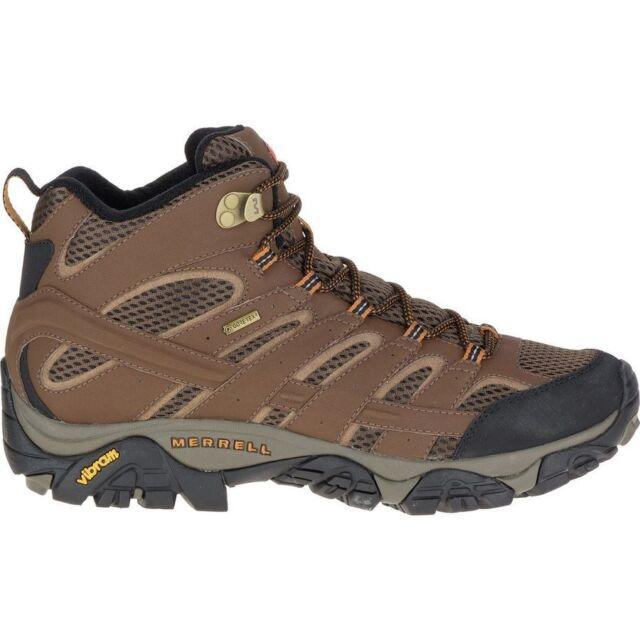 f21ac0df714 Merrell Moab 2 Mid GTX II Gore-tex Vibram Brown Black Men Outdoors Shoes  Ml06063 8.5