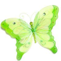 10 Nylon Green Butterfly