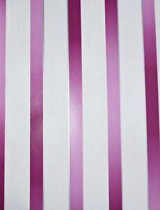 dieter bohlen vlies tapete ps 13165 10 streifen gestreift pink brombeer wei ebay. Black Bedroom Furniture Sets. Home Design Ideas