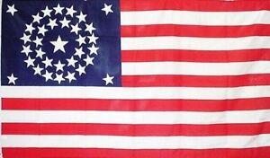 34-Star-CIRCULAR-3x5-ft-UNION-CIVIL-WAR-FLAG-1861-1863-Print-Polyester-Flag