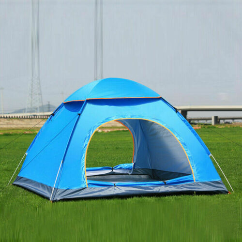 4 Man Person Large Pop Up Tent Automatic Family Tent Camping Festival Shelter UK