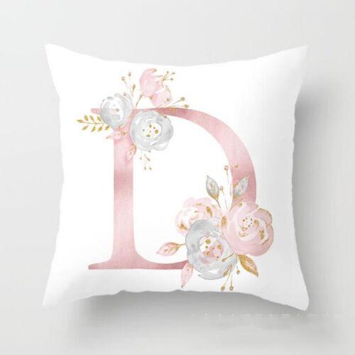 26 Buchstaben Kissenbezug Kissenhülle Kopfkissenbezug Wohnkultur Rosa Golden