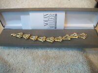 Nolan Miller Bracelet Dazzling Tulip Yellow & Clear Crystals Free Ship