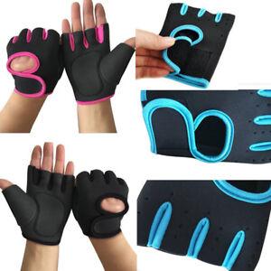 Women Men Work Out Half Finger Gloves Lifting Gym Sport Exercise