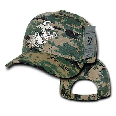 Woodland Camo USMC United States Marine Corps Marines Military Baseball Cap Hat