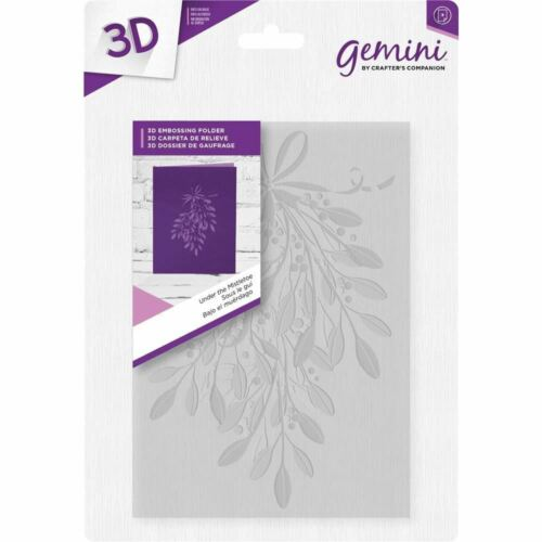 *OFFER* Crafter/'s Companion Gemini 3D Paper Card Christmas Embossing Folders