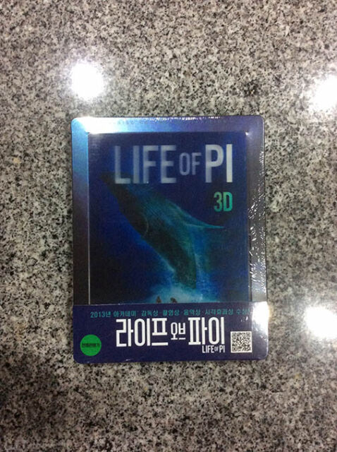 Life of PI 3D + 2D Blu-ray Lenticular Steelbook | Korea Korean exclusive NEW