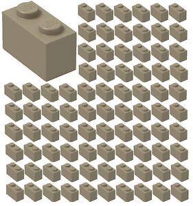 ID 3004 BULK Parts City Building ☀️100x NEW LEGO 1x2 TAN Bricks