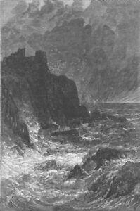 Respectueux Scotland. Tantallon Castle, Antique Print, 1878 Une Large SéLection De Couleurs Et De Dessins
