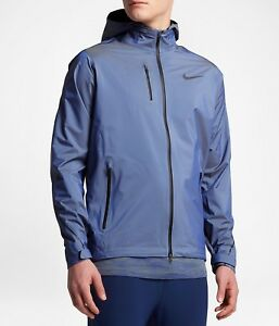 Activewear Jackets Alert Nike Hypershield Men's Running Jacket 800901-453 Paramount Blue Size Xl Rrp £200 Harmonious Colors