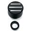 Hot Rod Black Ball Milled Aluminum Valve Cover Breather w//Grommet SBC BBC V8