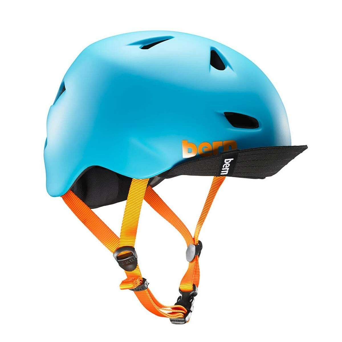 Bern Brentwood BICICLETTA skate CYCLE FLIP Visor Casco Blu S-M L-XL XXL-XXXL