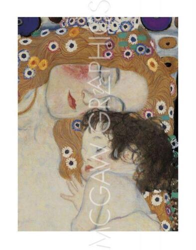"DETAIL - ART PRINT POSTER 14/""X11/"" 563 KLIMT GUSTAV THE THREE AGES OF WOMAN"