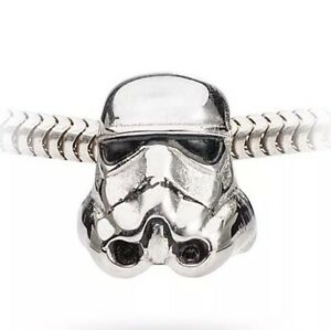 Star-Wars-Stormtrooper-Stainless-Steel-Bead-Charm-Bracelet-Necklace-Disney-NEW