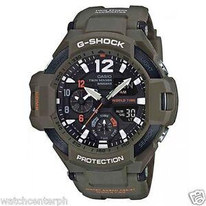 Casio G-SHOCK GA1100KH-3A SKY COCKPIT Aviation Watch OLIVE DRAB