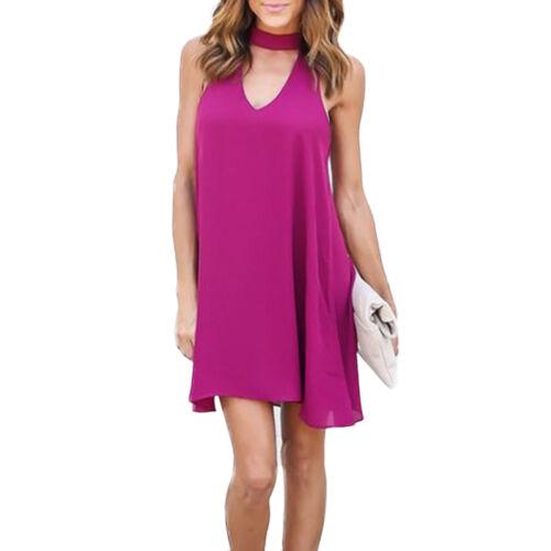 Mini Kleid Damen Blumen Kleider Strand Casual Sommer Party Cocktailkleid Maxi